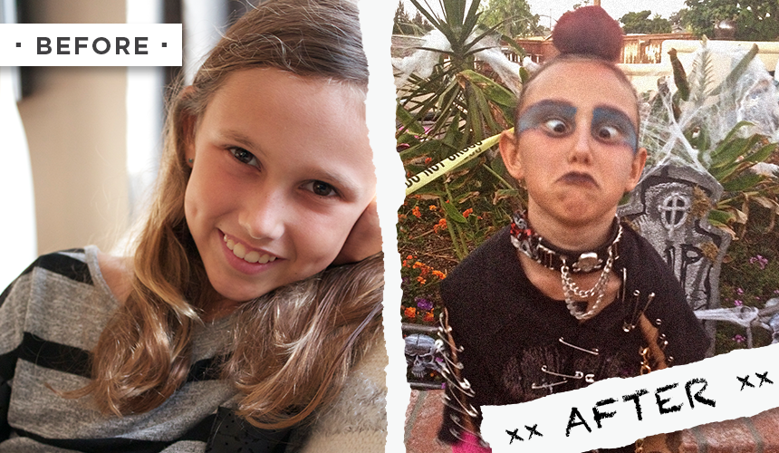 Punk Costume Before After