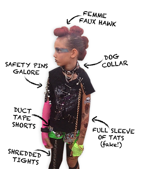 Punk Costume Diagram
