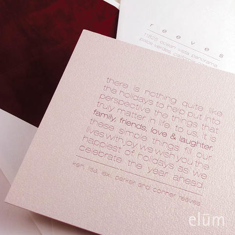 Holiday Toast Custom Letterpress Card