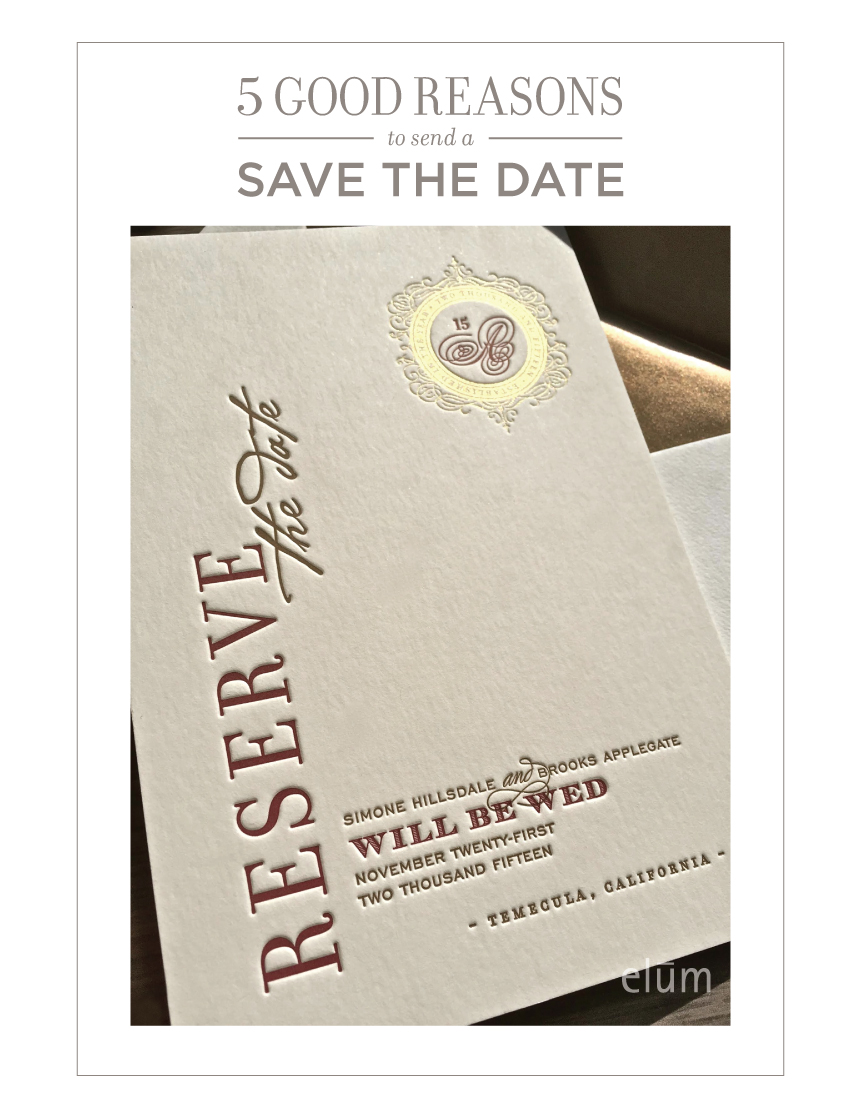 Save the date when to send