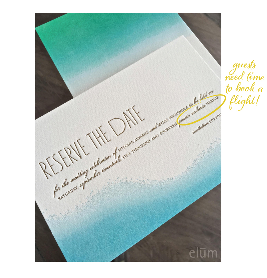 When To Send Save The Date: 5 Reasons To Send A Save The Date - Elum Designs
