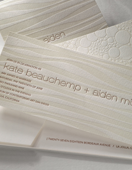 chic letterpress invitation - lucidity