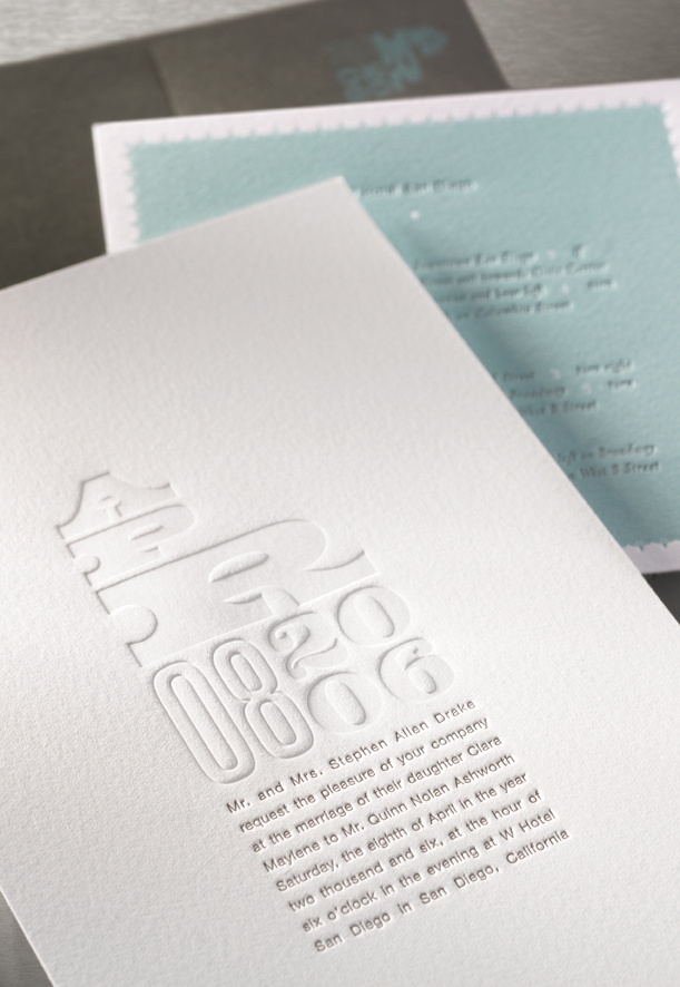 watermark wedding invitation