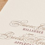 reserve letterpress invitation