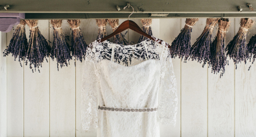Lavender Farm Wedding Gown