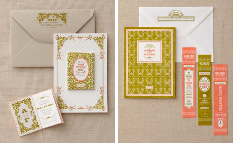 letterpress book invitations