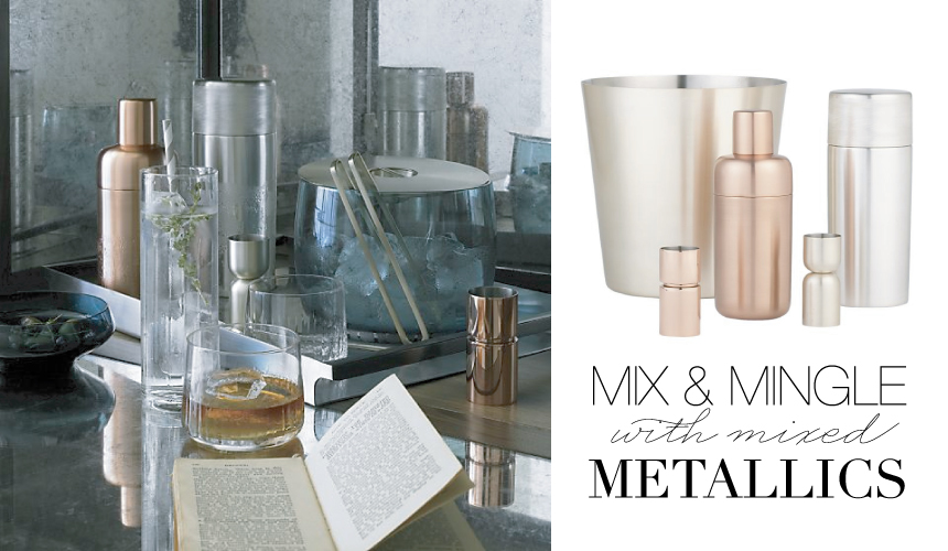 Mixed Metallic Barware