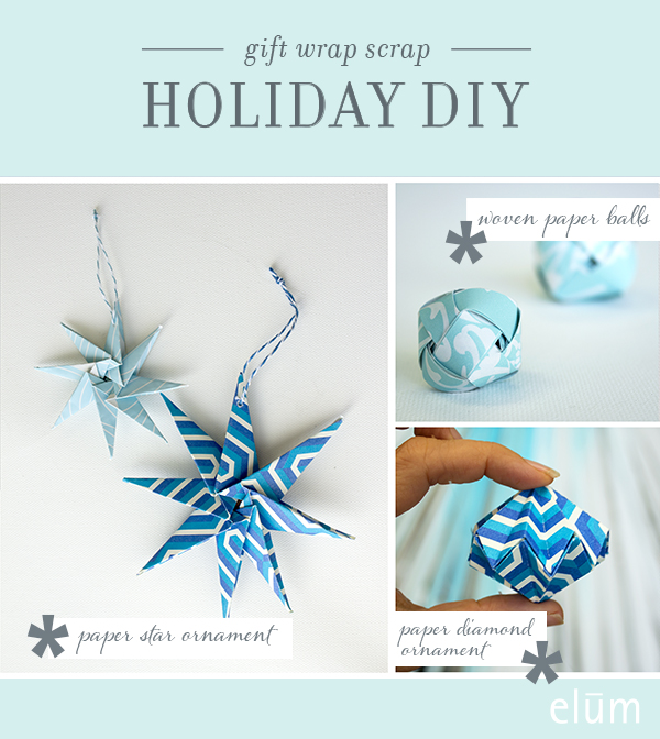 Elum Holiday DIY Paper Ornament Crafts