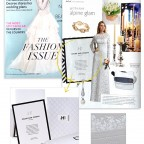 Elum Designs, Fifth Avenue letterpress invitation featured in The Knot, Fashion Issue - Spring 2015.
