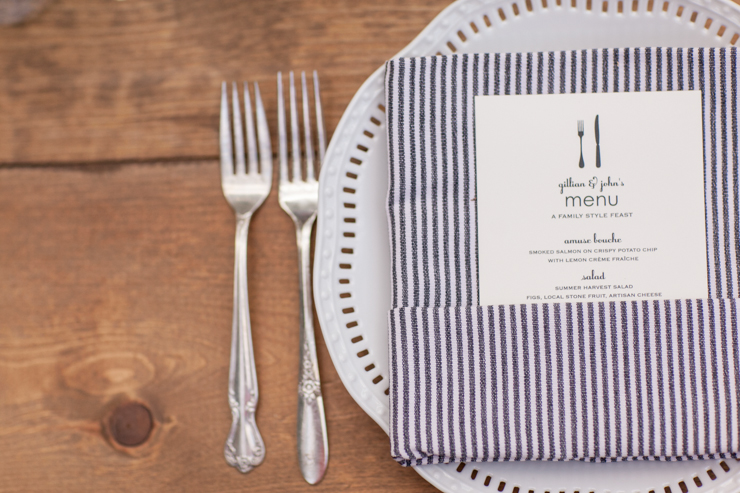 Elum Real Wedding: Letterpress Menus