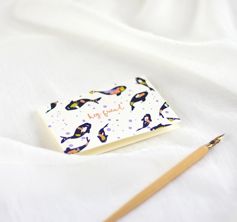 Elum Reverie Desk Collection: Koi letterpress box note cards