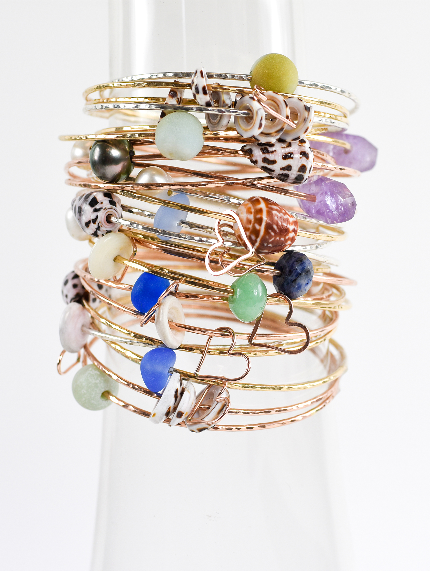 Ocean Inspired Bangles: Salty Blue Jewelry