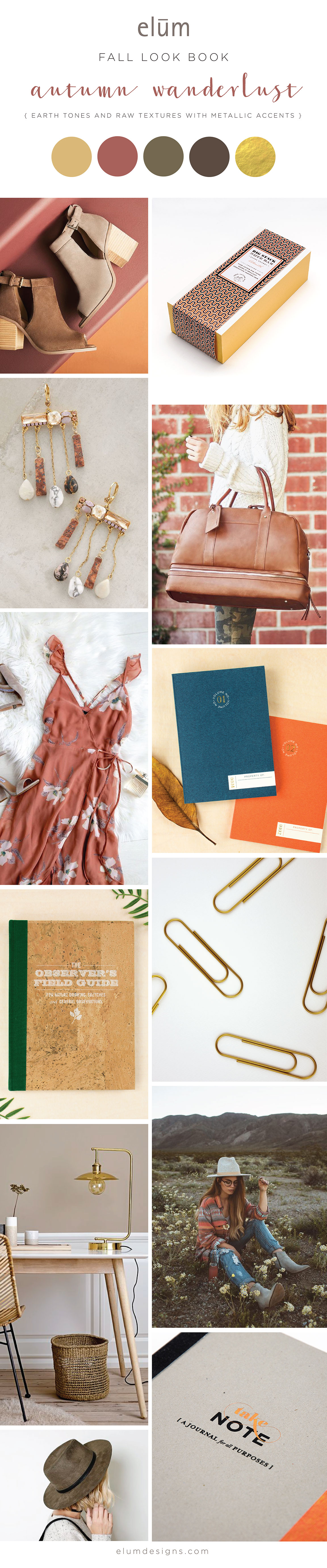 Elum Fall Look Book: Autumn Wanderlust Earth Tones