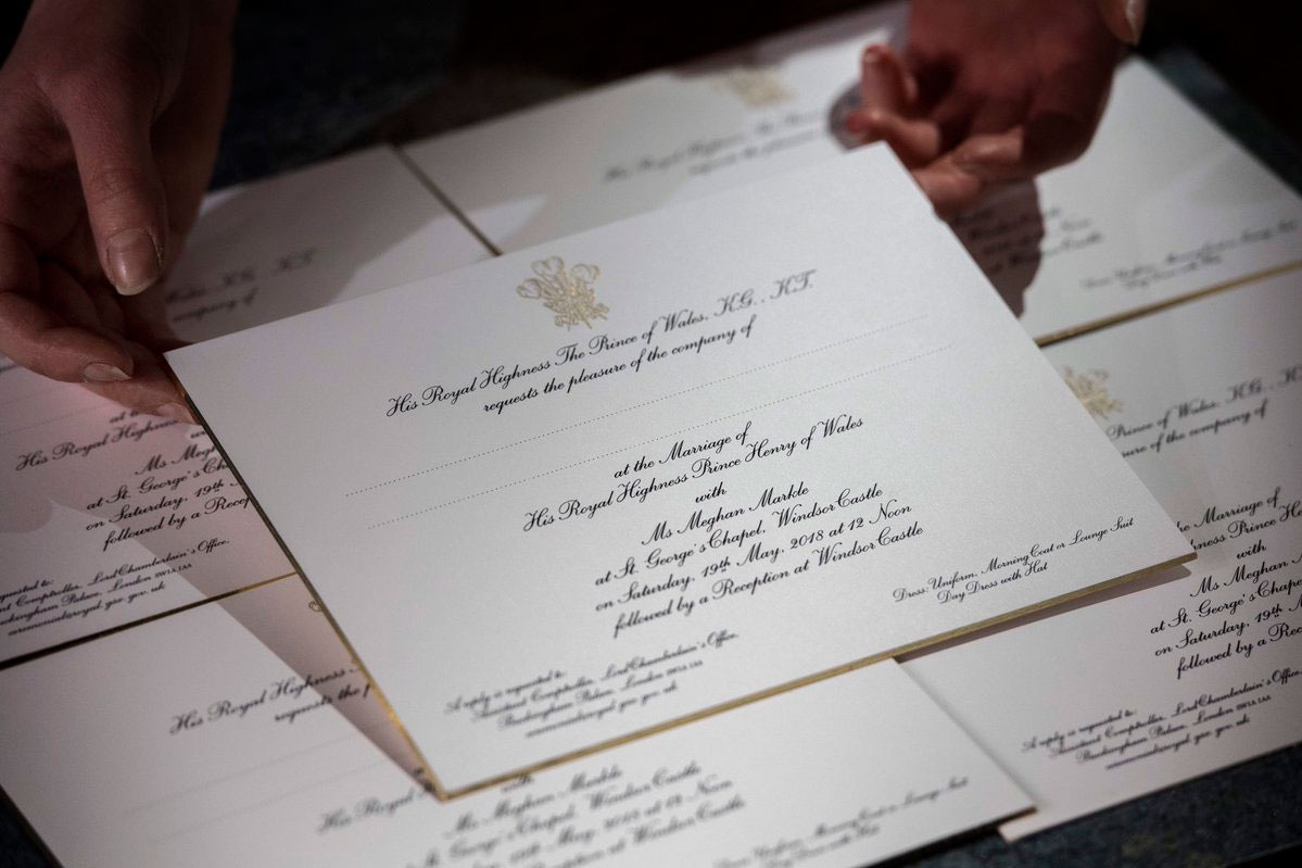 Harry & Meghan's Wedding Invitations