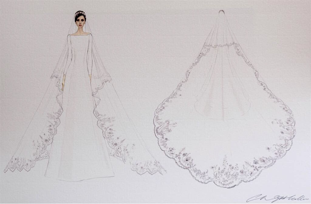 Meghan Markle Wedding Dress by Clare Waight Keller for Givenchy