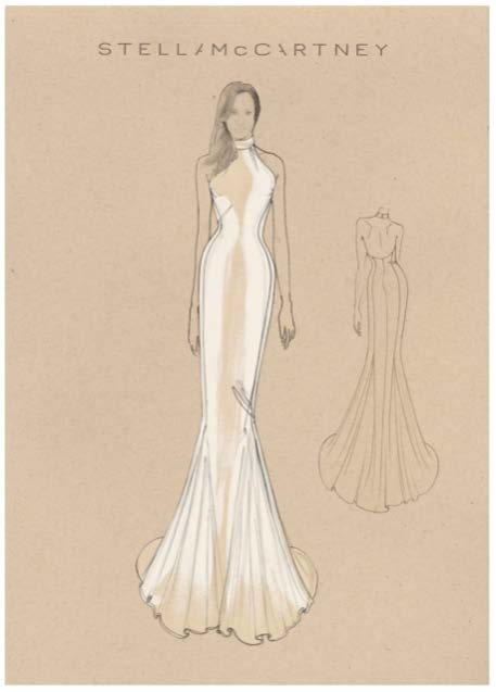 Meghan Markle evening reception gown by Stella McCartney